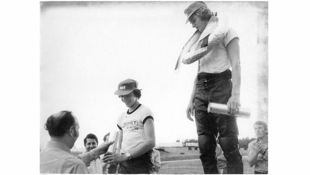 Stefan Bellof, Georg Bellof, l-r, Porsche AG
