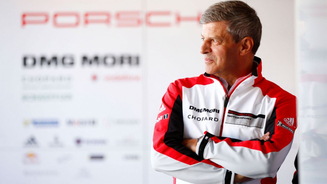 Fritz Enzinger, Vice President LMP1, 919 Hybrid, WEC, Fuji, 2016, Porsche AG