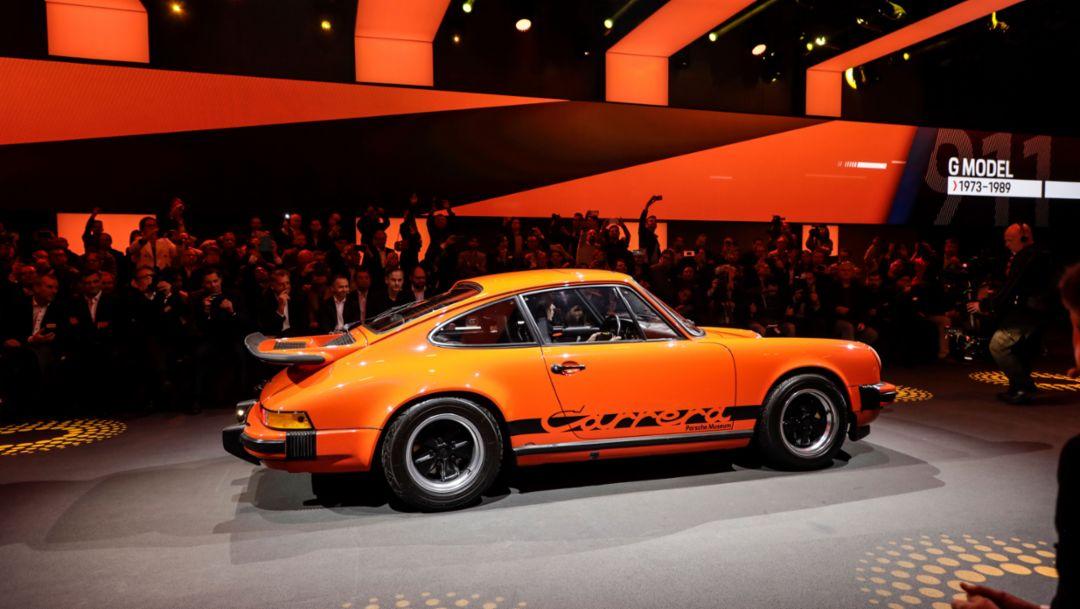 911 (G model), world premiere Porsche 911, Los Angeles, 2018, Porsche AG