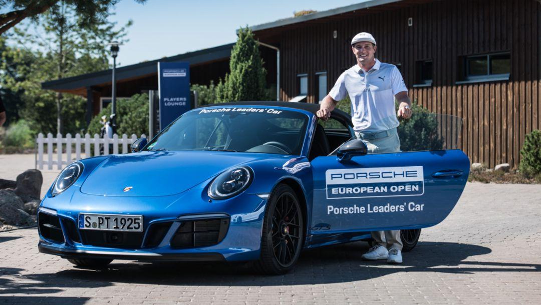 Bryson DeChambeau, Golfer, 911 Carrera GTS Cabriolet, Porsche European Open, Hamburg, 2018, Porsche AG