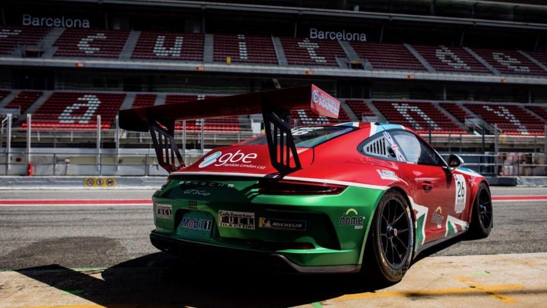 911 GT3 Cup, Tom Sharp, Porsche Mobil 1 Supercup, 2018, Porsche AG