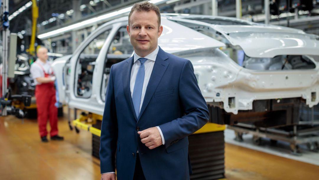 Gerd Rupp, Vorsitzender der Geschäftsführung der Porsche Leipzig GmbH, 2019, Porsche AG