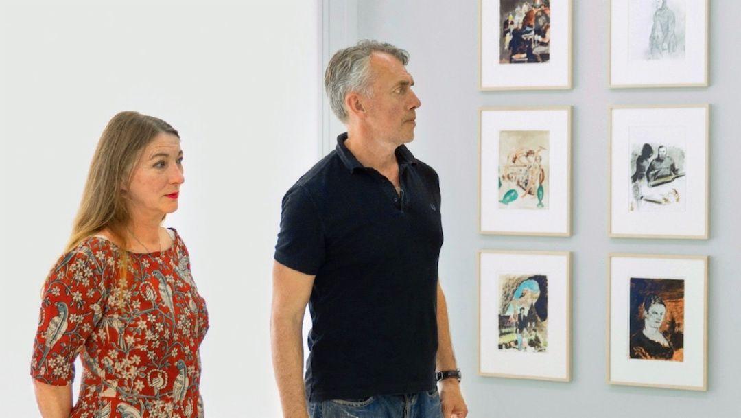 Rosa Loy, Neo Rauch, l-r, 2018, Porsche AG