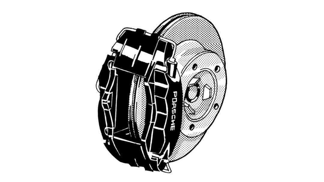 Monobloc aluminum brake caliper, 1996, Porsche AG