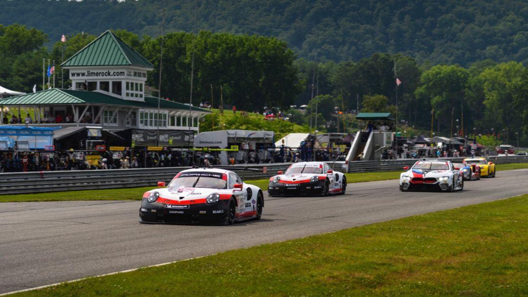 IMSA: Sieg für den Porsche 911 GT3 R, Porsche GT Team auf dem Podium
