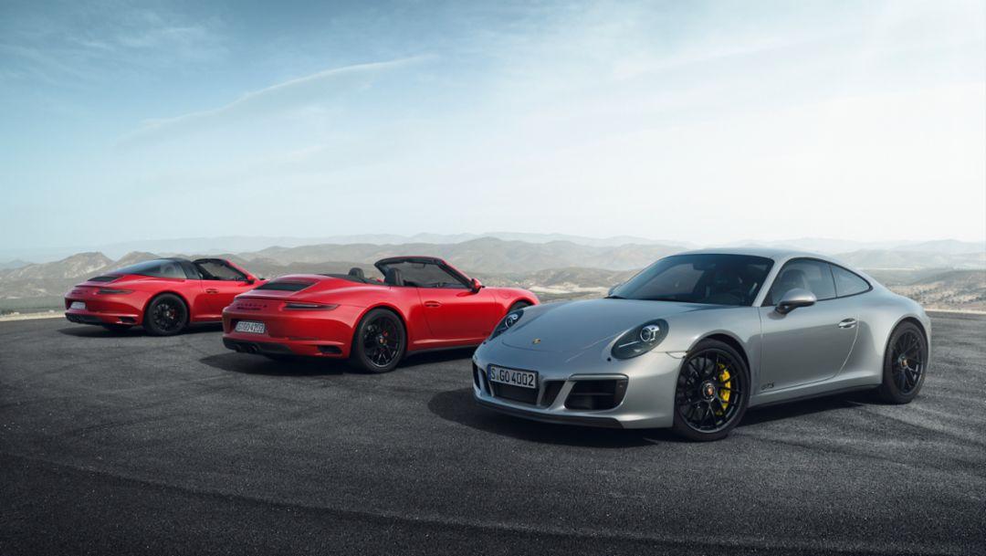 911 Targa 4 GTS, 911 Carrera 4 GTS Cabriolet, 911 Carrera 4 GTS, 2017, Porsche AG