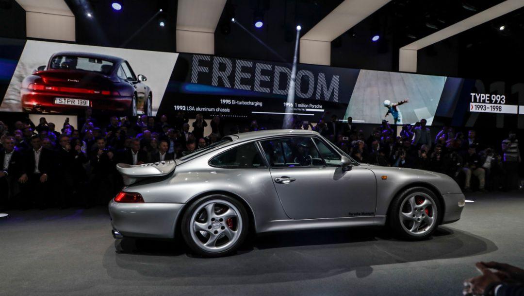 911 (993), world premiere Porsche 911, Los Angeles, 2018, Porsche AG