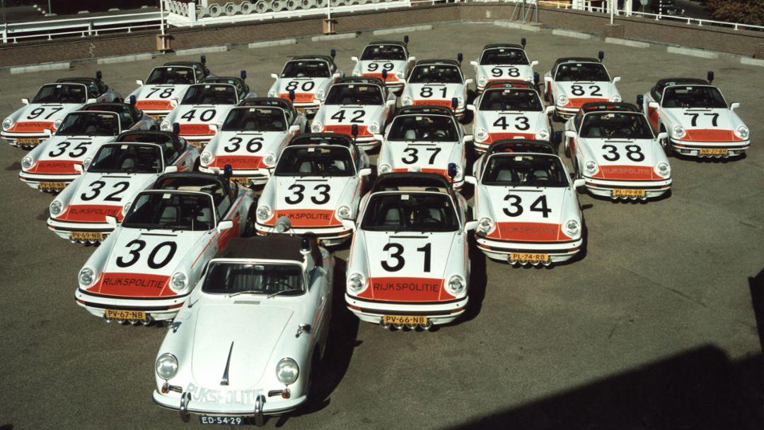 356, 911, 911 Targa, Rijkspolitie, Polizei, Niederlande, Porsche AG