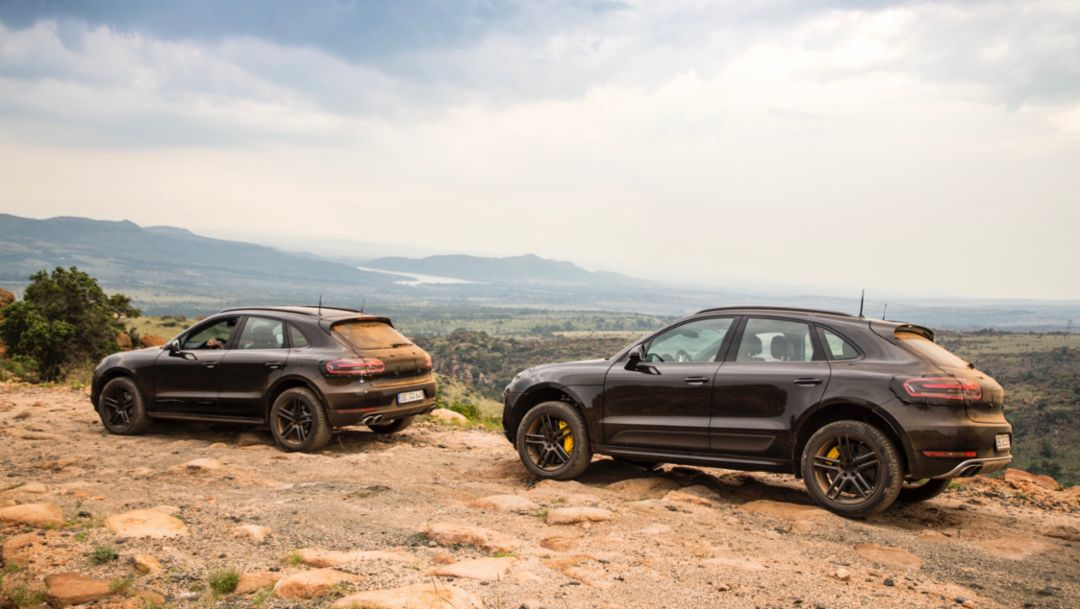 The new Porsche Macan in high-altitude training
