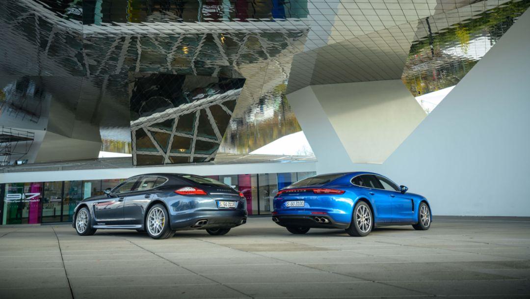 Generations in comparison - the Porsche Panamera 4S