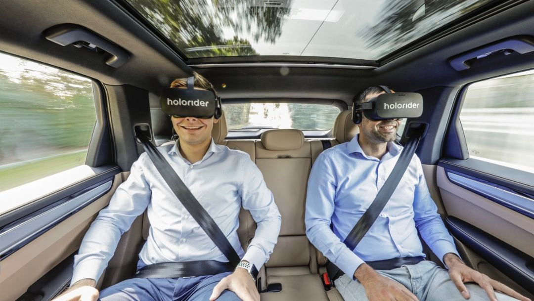 Porsche, Holoride and Discovery showcase new VR experience