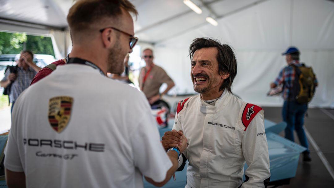 Ted Gushue, Stéphane Ortelli, l-r, Solitude Revival, 2019, Porsche AG