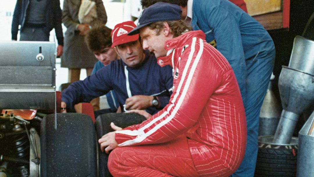 Niki Lauda, Nardò Technical Center, 1977, Porsche AG