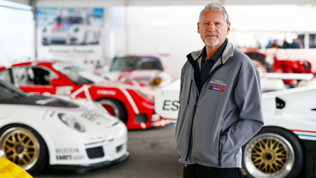 Kevin Jeanette, Porsche-Enthusiast, Rennsport Reunion VI, WeatherTech Raceway Laguna Seca, Kalifornien, 2018, Porsche AG