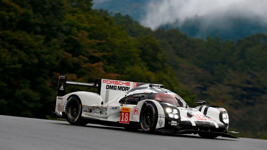 Porsche 919 Hybrid, Porsche Team: Romain Dumas, Neel Jani, Marc Lieb, FIA WEC, Fuji 2015, Porsche AG