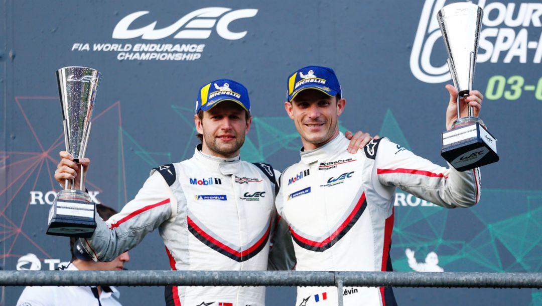 Michael Christensen, Kévin Estre, l-r, Spa-Francorchamps, FIA WEC, 2018, Porsche AG