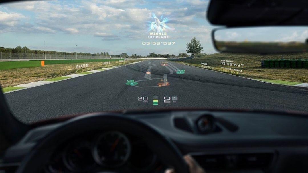 Проекционный дисплей стартапа WayRay, 2018, Porsche AG
