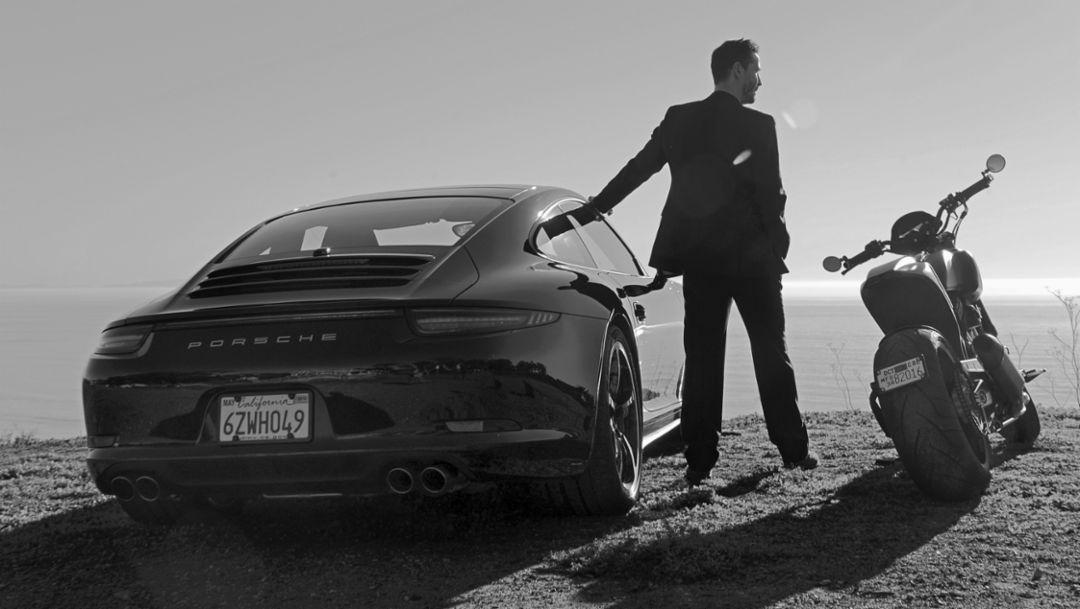 Keanu Reeves, Porsche 911 Carrera 4S, 2015, Porsche AG