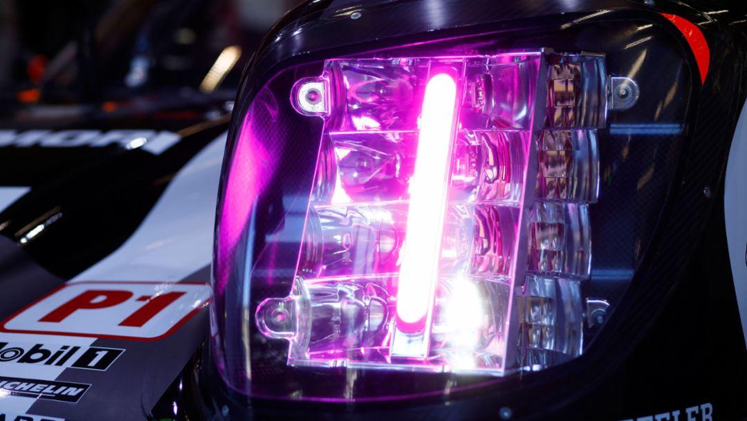 Porsche 919 Hybrid, new LED headlights, Spa-Francorchamps, WEC, 2016, Porsche AG