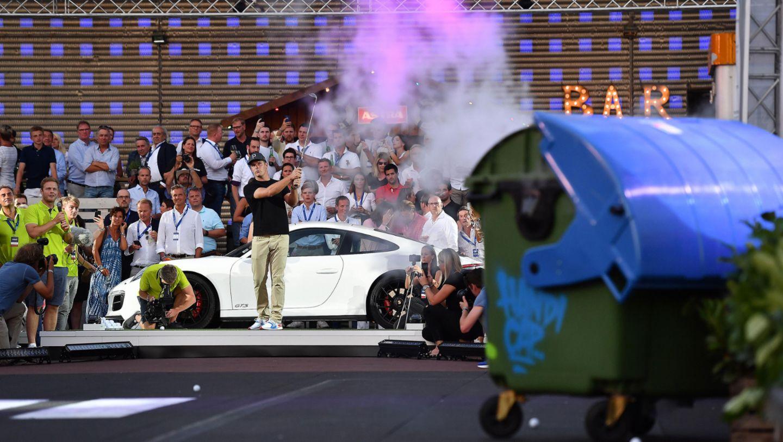Porsche Urban Golf Challenge mit Bryson DeChambeau (USA), Porsche European Open, St. Pauli, Hamburg, 2018, Porsche AG