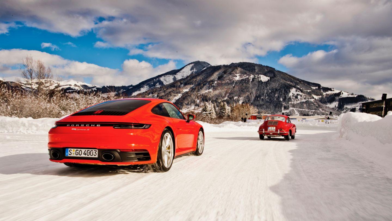 911 Carrera S, 356 Coupé, (l.-r.), Zell am See, 2019, Porsche AG