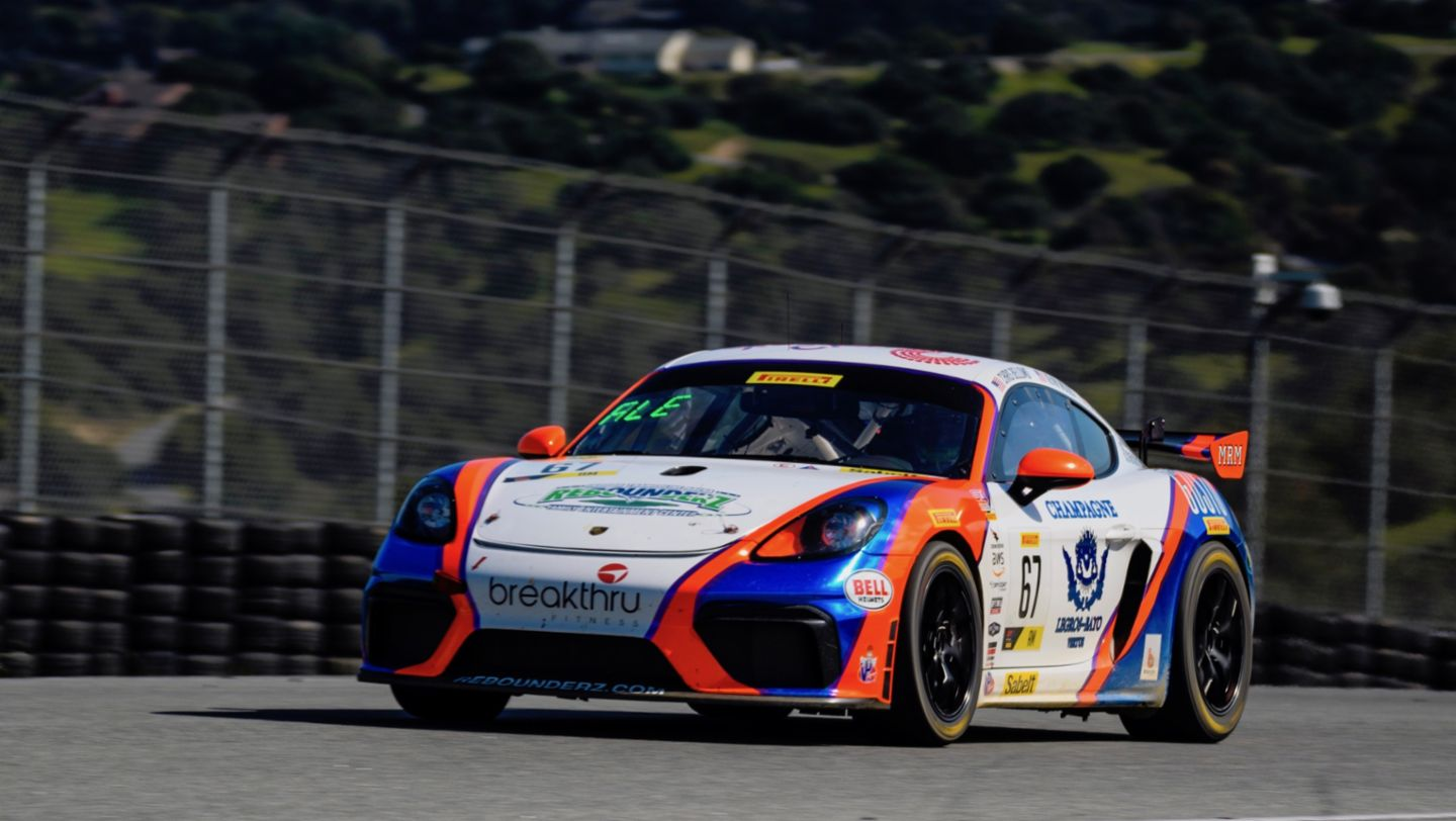 718 Cayman GT4 Clubsport, The Racer's Group, qualifying, Laguna Seca, 2019, Porsche AG
