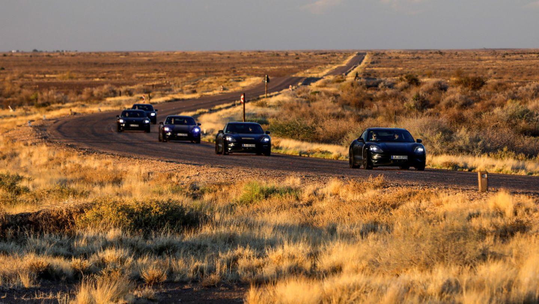 保时捷 Taycan 在南非进行路试