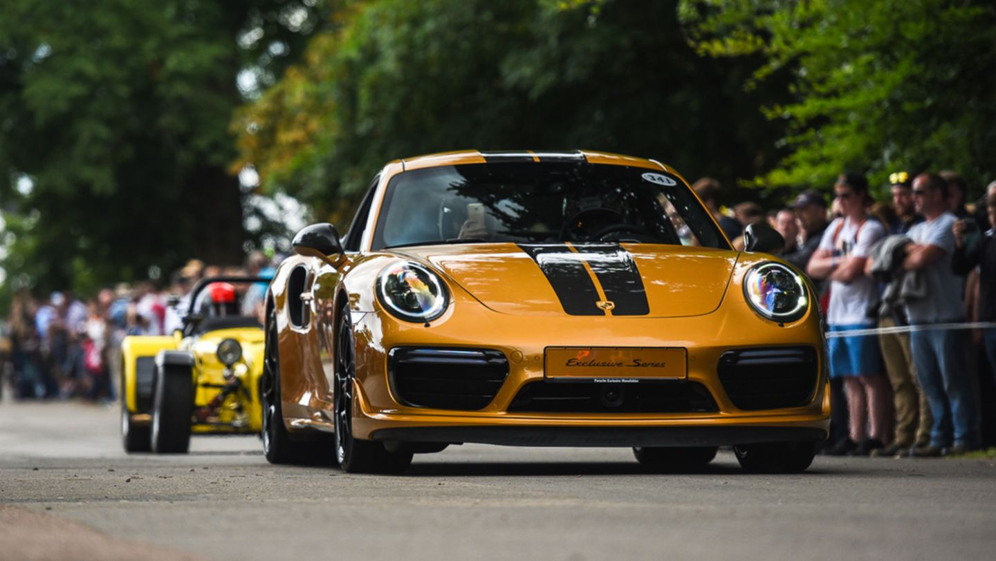 911 Turbo S Exclusive Series, Festival of Speed, Goodwood, Great Britain, 2017, Porsche AG