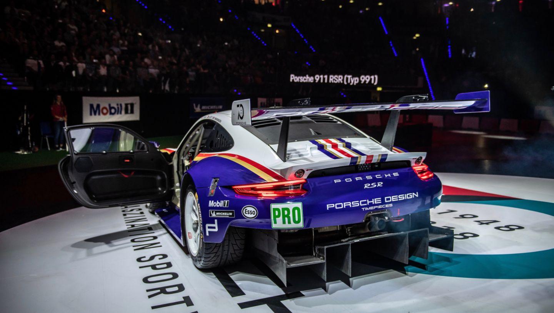 Porsche 911 (991) RSR, восьмая ночь звуков Porsche Sound Nacht, Porsche Arena, 2018, Porsche AG