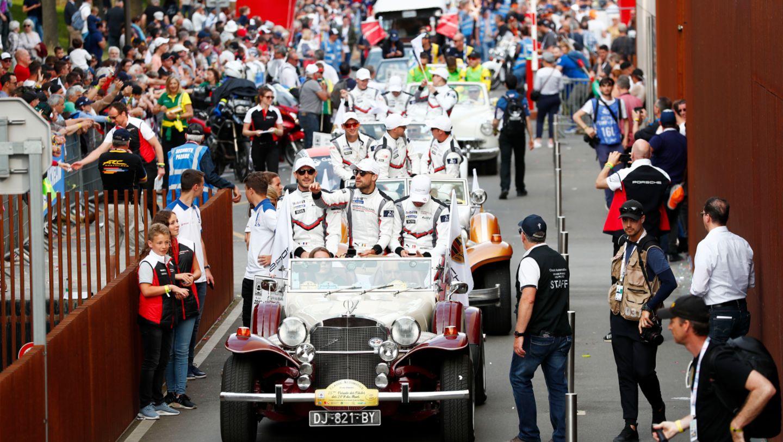 Fahrerparade, FIA WEC, Le Mans, 2019, Porsche AG