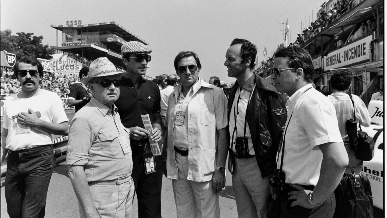 Ferry Porsche, Manfred Jantke, Peter W. Schutz, Norbert Wagner, Dr. Wolfgang Porsche, l-r, Le Mans, 1981, Porsche AG