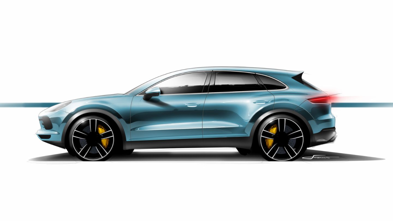Desginskizze Cayenne, 2017, Porsche AG