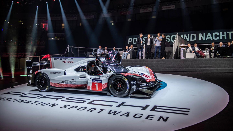 Porsche 919 Hybrid, восьмая ночь звуков Porsche Sound Nacht, Porsche Arena, 2018, Porsche AG