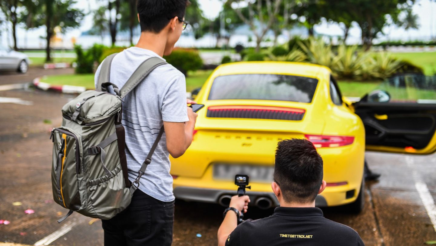 911 Carrera T, Road to Sportscar Together Day, Chumphon nach Bangkok, 2018, Porsche AG