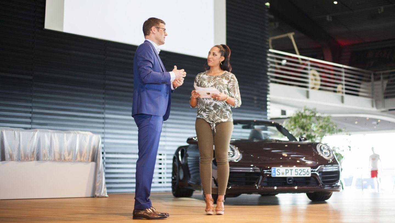 Dr. Joachim Lamla, Jessica Wahls, Porsche Nacht der Talente, Leipzig, 2017, Porsche AG