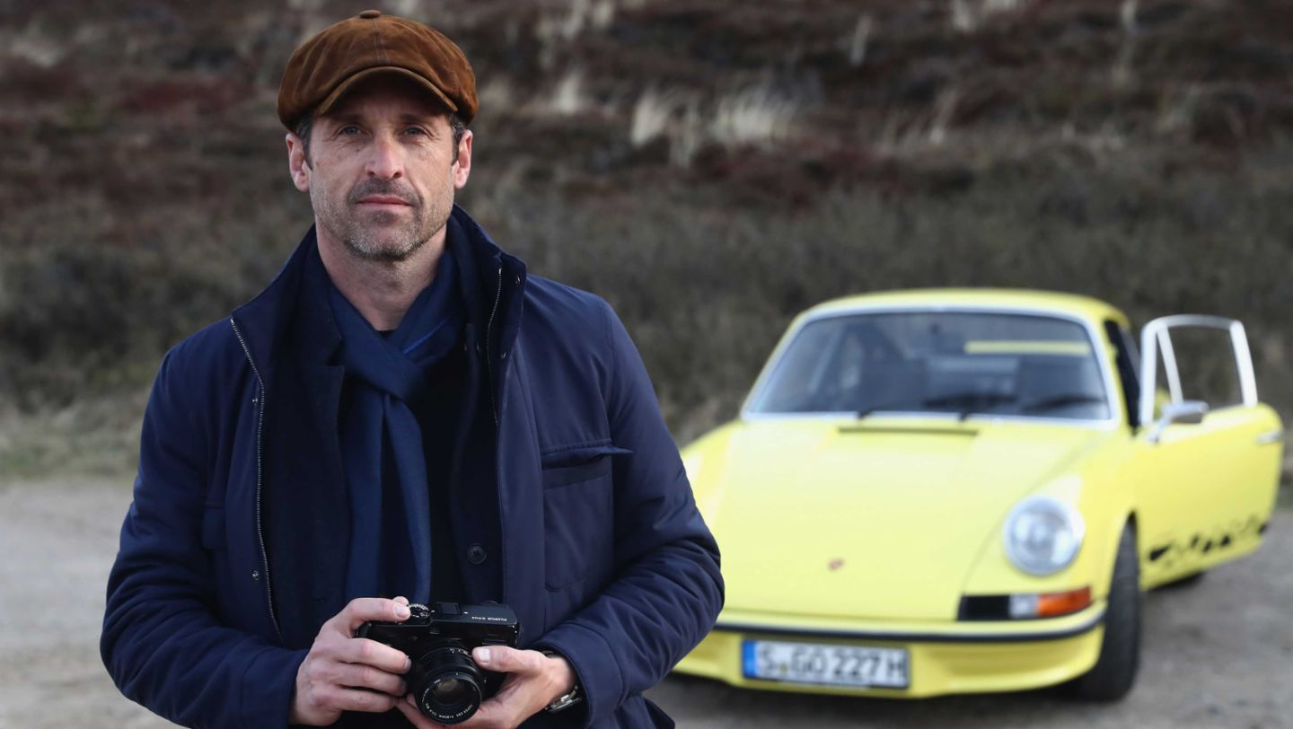 Patrick Dempsey, Carrera RS, Grand Opening of Porsche on Sylt, Sylt, Germany, 2017, Porsche AG