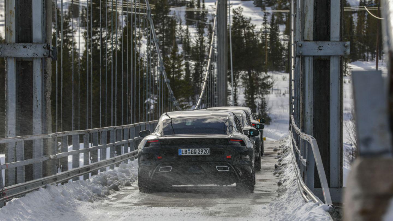 保时捷 Taycan 在瑞典进行路试