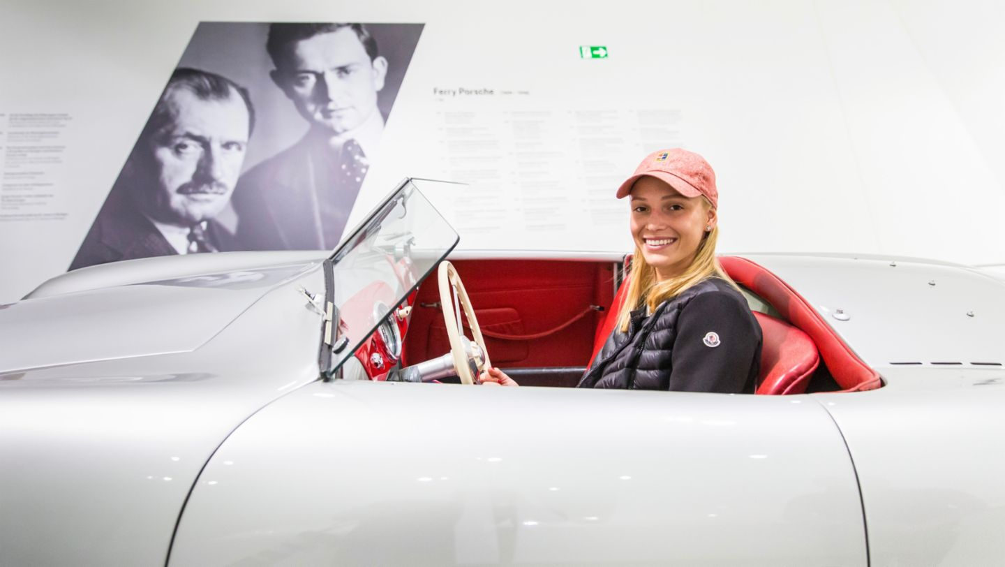 Croatian Donna Vekić would be ready for a joyride in the Porsche 356 Cabriolet (2019)