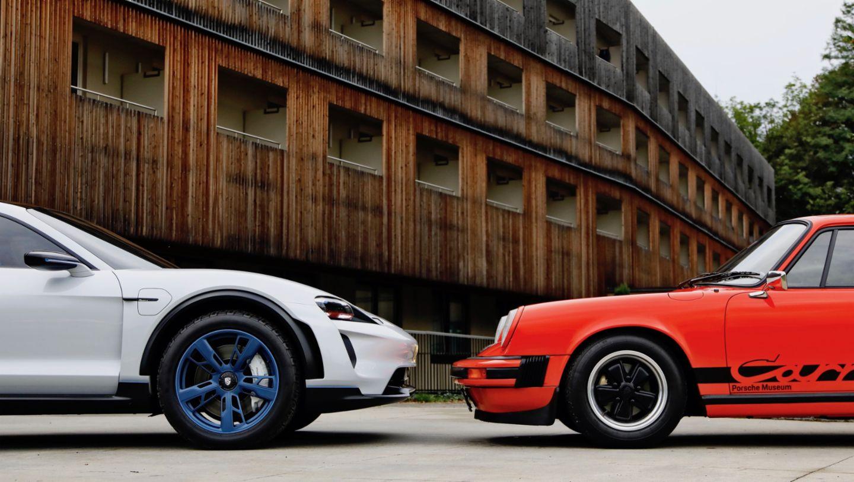 Mission E Cross Turismo, 911 Carrera 2.7, l-r, 2018, Porsche AG