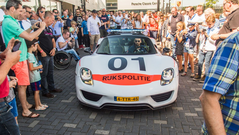 918 Spyder, Rijkspolitie, police, Porsche Classic Center Gelderland, Netherlands, 2017, Porsche AG