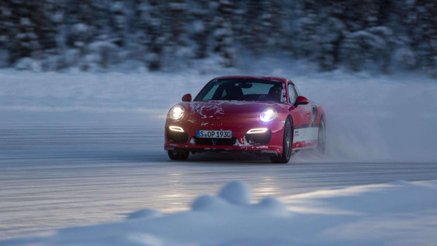 911 Turbo, Porsche Driving Experience, Ice Force, Levi, Finland, 2015, Porsche AG