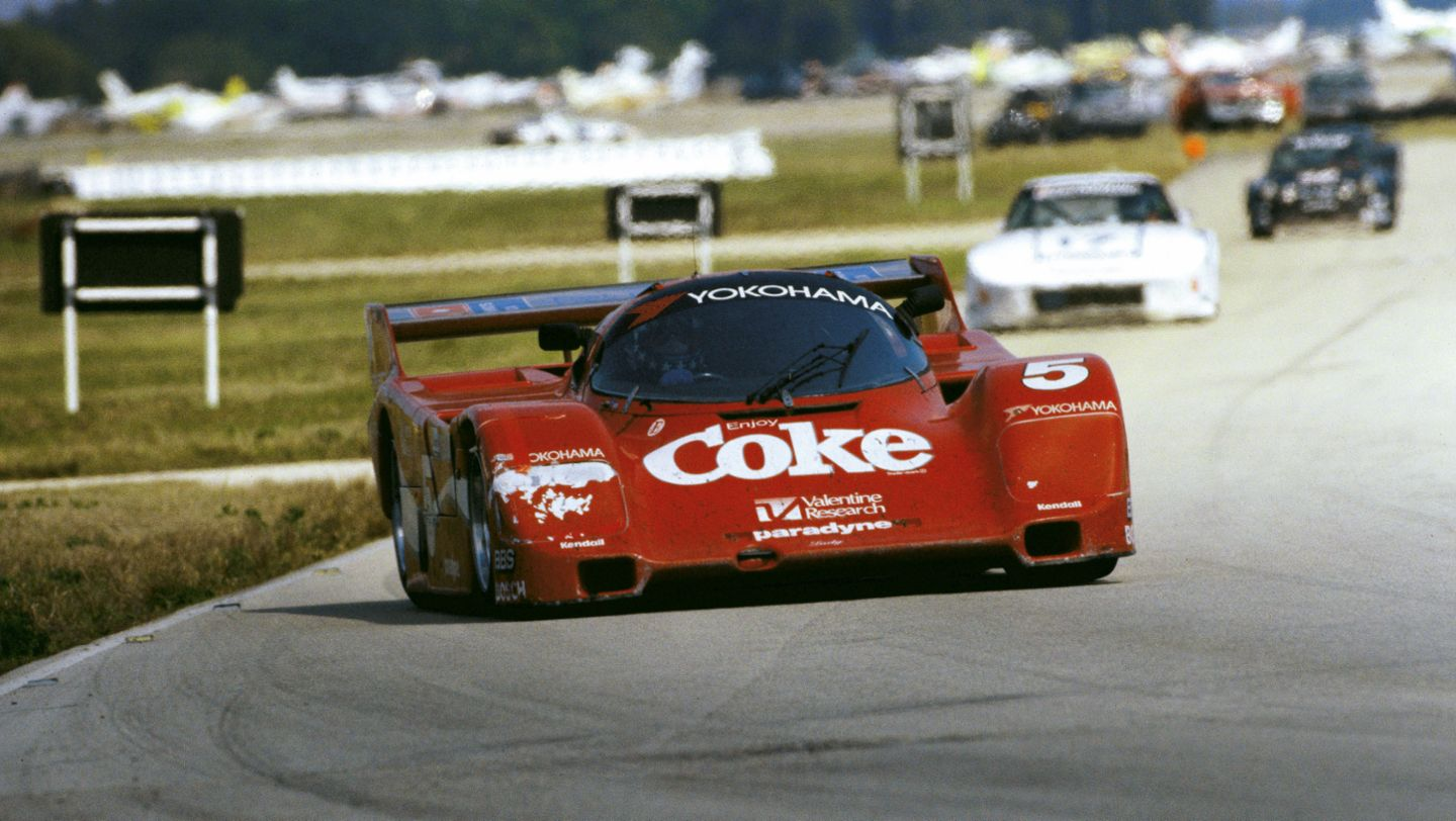 Porsche Typ 962, No. 5: Bob Akin, Hans-Joachim Stuck and Jo Gartner, Race in Sebring (12 Hours), 1986, Porsche AG