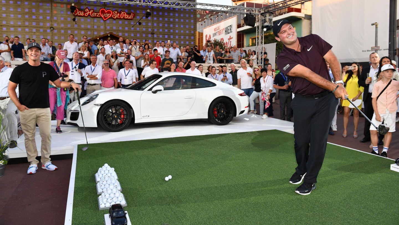 Porsche Urban Golf Challenge with Masters Champion Patrick Reed (USA), Porsche European Open, St. Pauli, Hamburg, 2018, Porsche AG