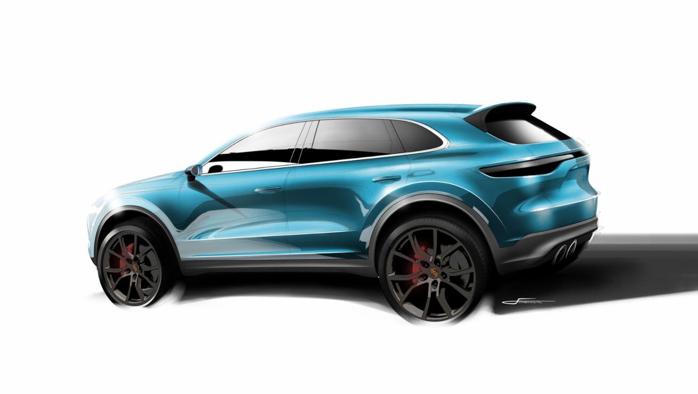 Designskizze Cayenne, 2017, Porsche AG