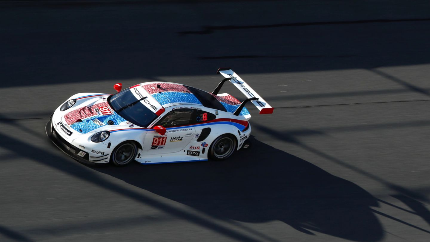 Imsa Porsche On The Podium At Daytona After Strong Team