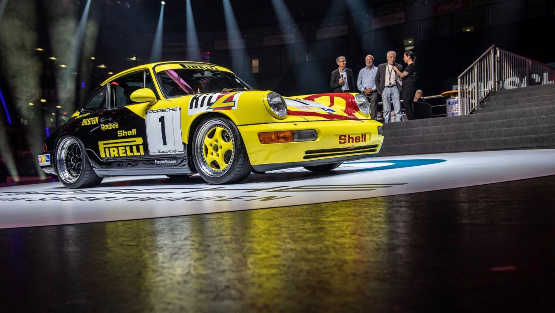 Porsche 911 (964) Carrera 2 Cup, восьмая ночь звуков Porsche Sound Nacht, Porsche Arena, 2018, Porsche AG