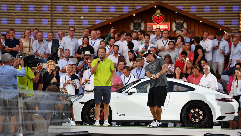 Porsche Urban Golf Challenge mit Pat Perez (USA), Porsche European Open, St. Pauli, Hamburg, 2018, Porsche AG