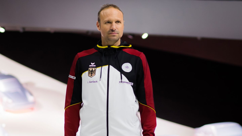 Jens Gerlach, Teamkapitän Porsche Team Deutschland, Porsche Pavillon, Autostadt Wolfsburg, 2019, Porsche AG