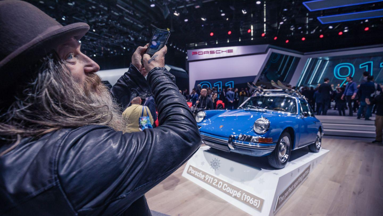 Magnus Walker, 911 2.0 Coupé (1965), Internationaler Automobil-Salon Genf, 2019, Porsche AG