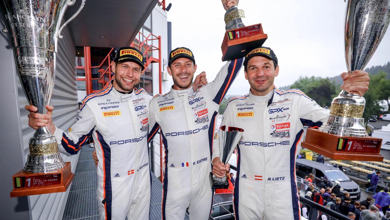 Michael Christensen, Kevin Estre, Richard Lietz, 911 GT3 R, 24 Hours of Spa, 2019, Porsche AG